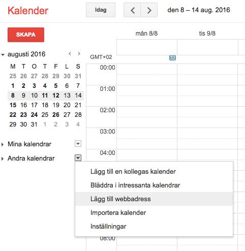 Synkronisera EasyPractice med Google Kalender